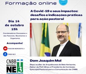 Formação online sobre os desafios e indicações da ação pastoral acontece hoje (14)