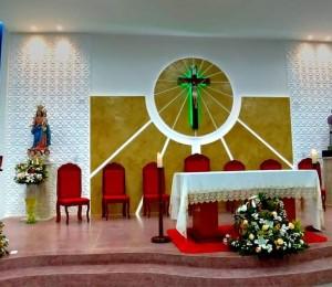 Após reforma, Igreja Matriz da Paróquia Nossa Senhora da Luz ganha novo presbitério