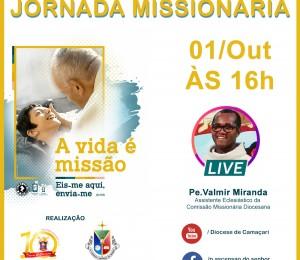 Mês Missionário : Live Diocesana da Jornada Missionária acontece nesta quinta-feira  (01/10)