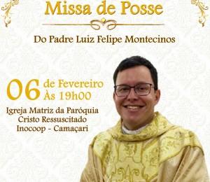 Pe.Luiz Felipe assume como pároco da Paróquia Cristo Ressuscitado neste sábado  (06)