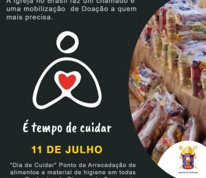 Em comunhão com a Igreja do Brasil a Diocese de Camaçari realiza dia de solidariedade e arrecadação no próximo domingo (11/07)