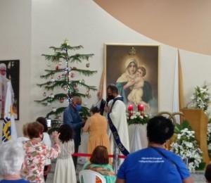 De forma reduzida, missionários do Movimento Mãe Rainha participaram de peregrinação ao Santuário Mãe Rainha três vezes admirável de Schoenstatt