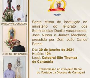 Seminaristas da Diocese de Camaçari serão instituídos no ministério do leitorato