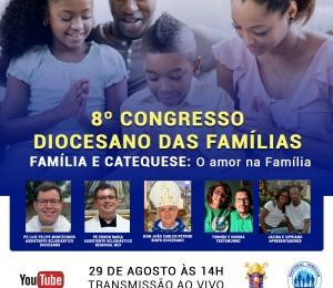 Congresso Diocesano das Famílias acontecerá online no domingo (29)