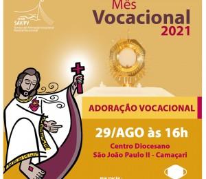 Seminário São Thomaz promove adoração vocacional neste domingo (29)