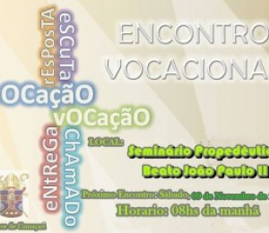 Encontro vocacional acontece neste sábado (09/11)