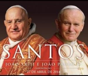 Papa Francisco canoniza João XXIII e João Paulo II