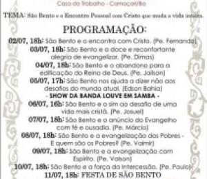 Novena e Festa de São Bento começam dia 02 de julho