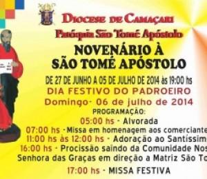Festa em homenagem a São Tomé Apóstolo segue até domingo (06)