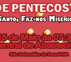 Quase Paróquia Santa Marcelina realiza tríduo e Festa de Pentecostes