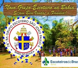 Grupo de escoteiros São João Paulo II é criado em Barra do Pojuca