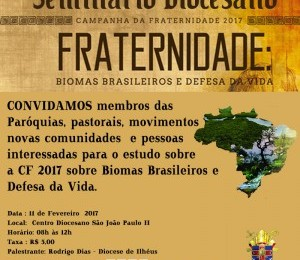Seminário Diocesano sobre a Campanha da Fraternidade acontece neste sábado (11)