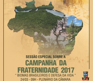 Campanha da Fraternidade será tema da sessão especial na Câmara de Vereadores de Camaçari nesta sexta (24)