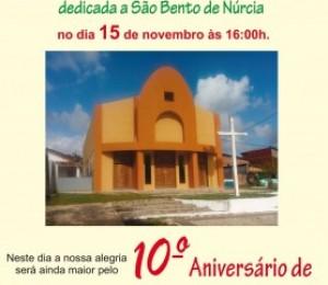 Paróquia São Bento celebra consagração da nova Igreja Matriz
