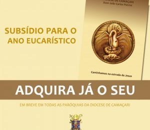 Já está disponível o subsídio para o ano Eucarístico Diocesano