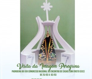 Paróquias da Diocese de Camaçari recebem imagem peregrina em preparação ao Congresso Nacional do ECC