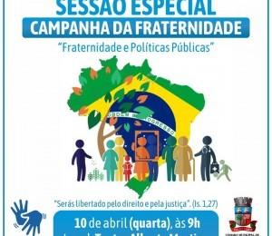 Sessão Especial sobre a Campanha da Fraternidade acontece nesta quarta-feira (10) em Camaçari